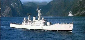 """HMS Phoebe"" was part of the 1977 task force sent to the South Atlantic."