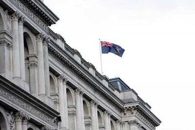 The SGSSI flag flies over the FCO building in London. Photo FCO.