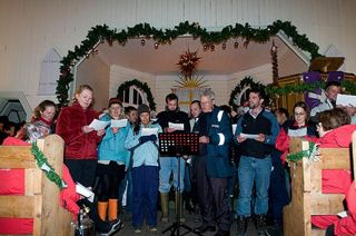 The locals performed a spirited local version of the 12 days of Christmas. Photos Thies Matzen.