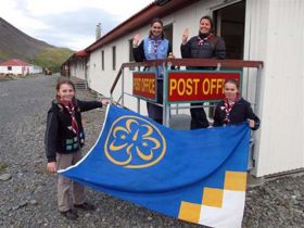 Girl Guides past and present at KEP. Photo Hollinsclough