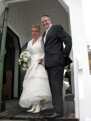 Elke and Hugo on their wedding day.
