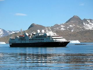 "Cruise ships like ""Prince Albert II"" will soon be returning to South Georgia waters."