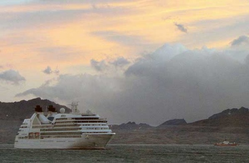 Seabourne Quest is the largest cruise ship of the season.
