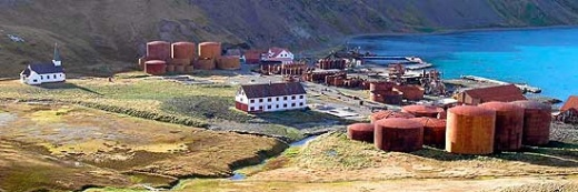 After a major clean-up operation costing millions, Grytviken is the only former whaling station accessible to visitors to South Georgia.