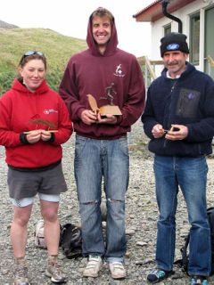 Class winners, Paula, Richie and Hugh.