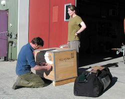 whilst Jenn and Charles pack their boxes ready to leave after more than two years on the Island.