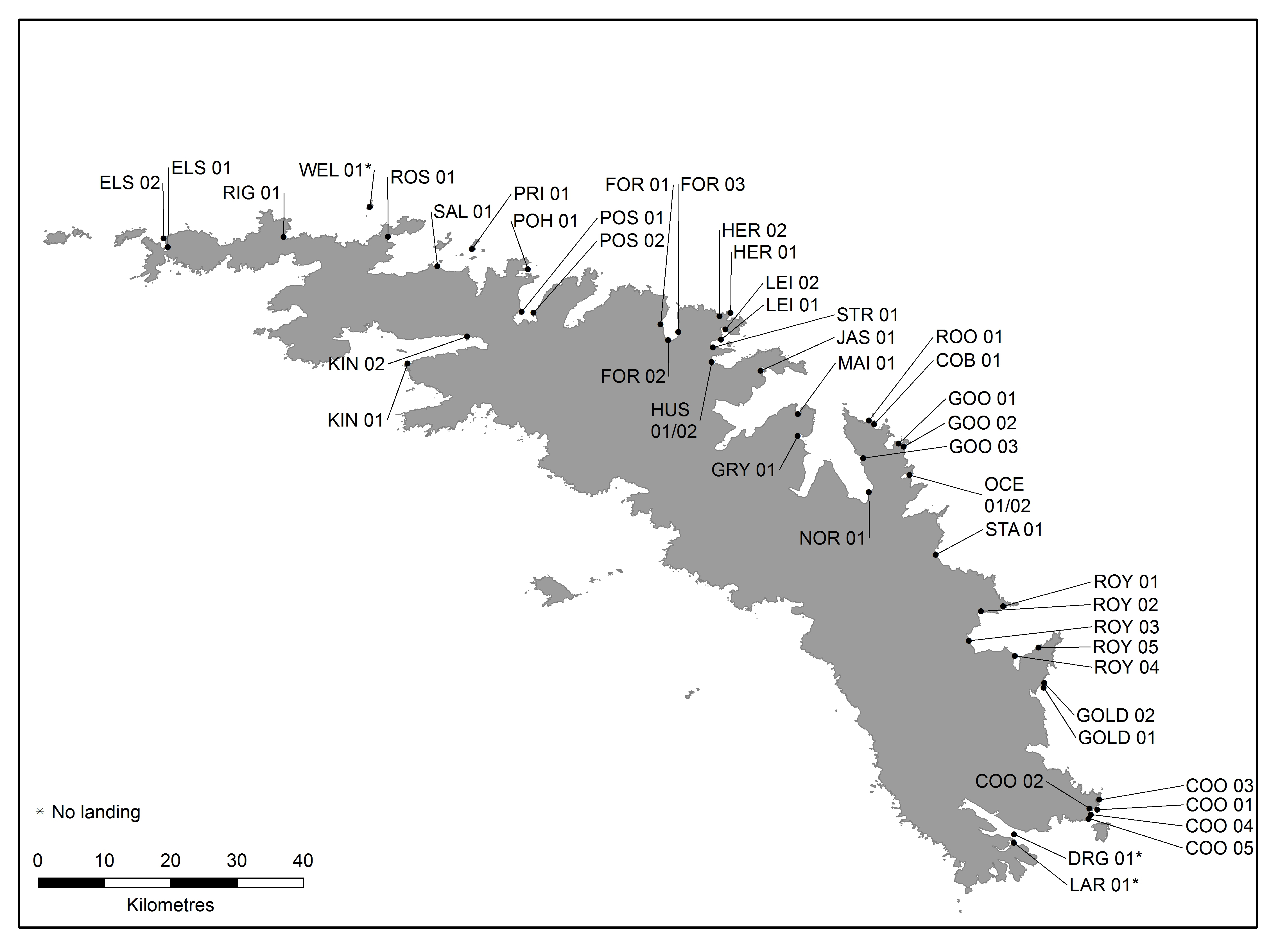 Visitor Sites – Government of South Georgia & the South Sandwich Islands
