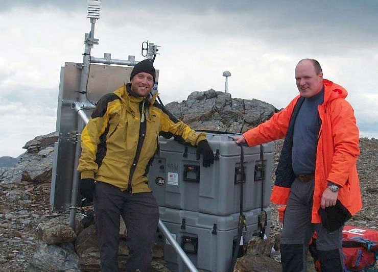 Professor Felix Norman Teferle and Seth White at the KEP Geodetic Observatory.
