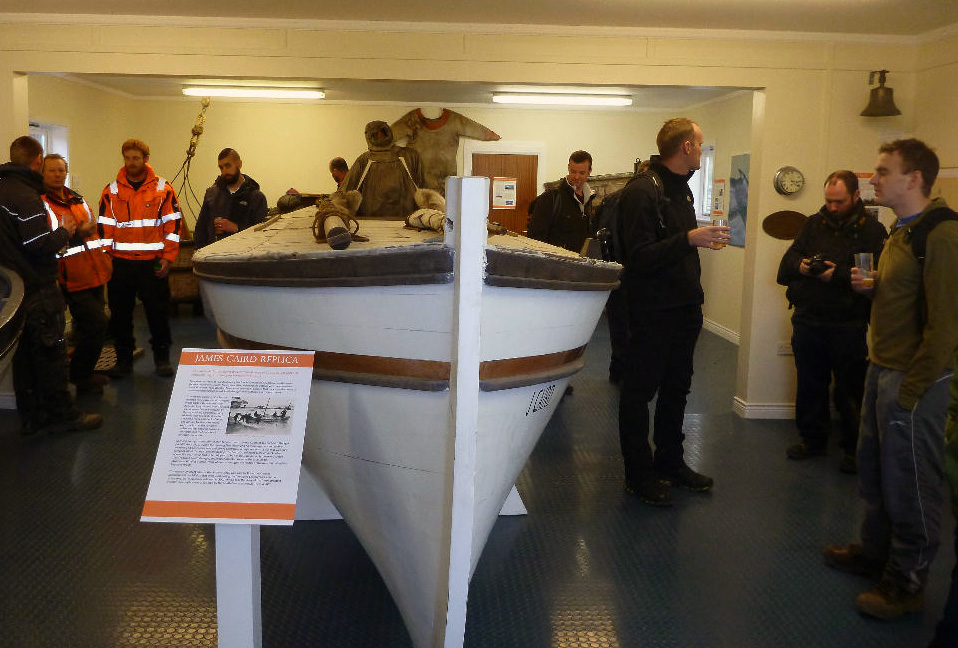 The reopening event in the Carr Maritime Gallery. Photo Simon Browning.