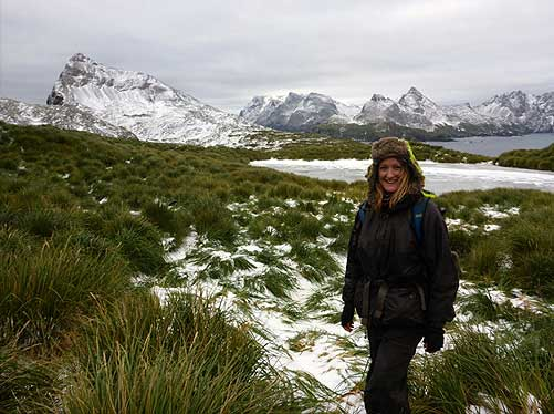 Snow arrives on BI and the ponds and streams now start to freeze. Photo Jess Walkup
