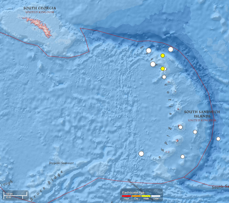 South Sandwich Islands area earthquakes during July 2015.