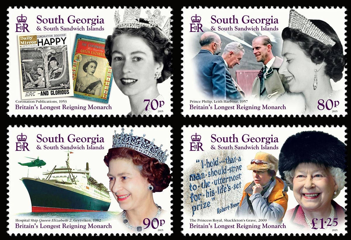 HM Queen Elizabeth II: Britain's Longest Reigning Monarch stamps