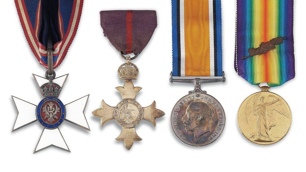 Shackleton's medals will be sold at auction. Photo Christies.