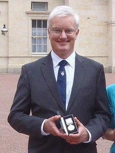 Pat after receiving Polar Medal.