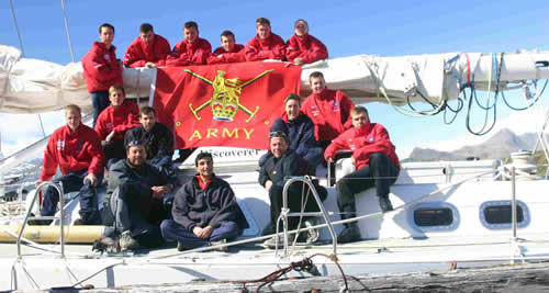 Members of the Far Flung Tiger Expedition on board HMSTC Discoverer. Photo by Ainslie Wilson.