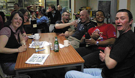 High spirits for the Winning Team at Morrison Quiz night.