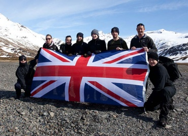 "The group that landed at Stromness from ""HMS Clyde""  to patrol to Fortuna Bay. Photo Sam Cimmin."