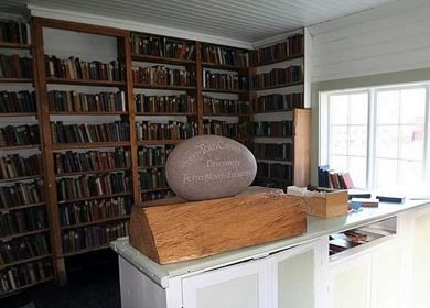 The library at Grytviken is being catalogued and preserved.