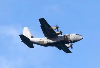 The Hercules overflew Cumberland Bay during the naval patrol. Photo Samantha Crimmin.