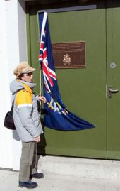 The Princess Royal officially opening the Hydroelectric Station. Photo John Ashburner.