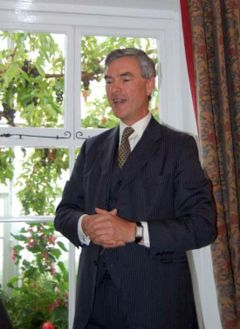 Commissioner Nigel Haywood making an address at the Government House Possession Day reception. Photo J Brock