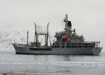 RFA Black Rover in Cumberland Bay.