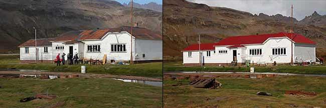 Husvik Villa: Before and after 2006 restoration